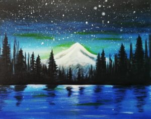 Trillium Lake | The Loaded Brush Paint & Sip Classes | loadedbrushpdx.com